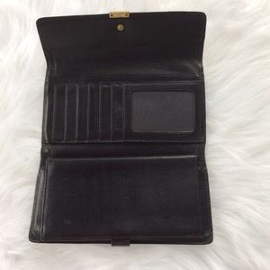Coach vintage leather trifold wallet